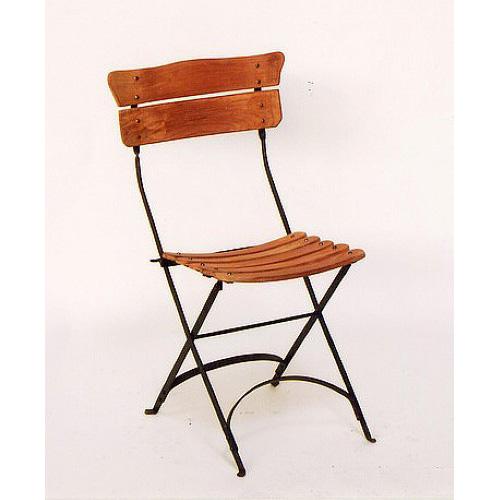 Chaise de jardin teck/fer forgé 509