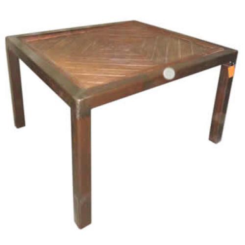 Table en fer et teck 102908