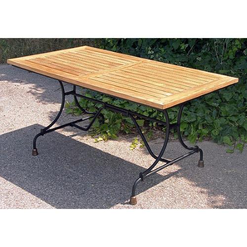 Table de jardin teck/fer forgé 1921