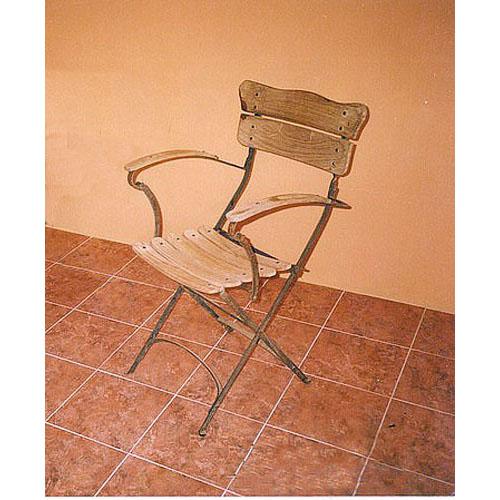 fauteuil de jardin teck fer forg 497 e cipango decoration et meubles en teck mijas malaga. Black Bedroom Furniture Sets. Home Design Ideas